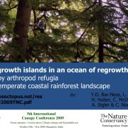 Old growth Islands in an Ocean of Regrowth (Canopy arthropod refugia in a temperate coastal rainforest landscape)