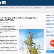 Photographing one of the world's tallest trees in Tasmania's Styx Valley